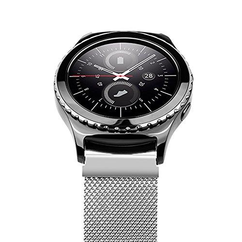 Correas-Samsung-Gear-S2-ClassicSundaree-Metal-Magntico-Milanese-Reemplazo-Banda-Pulseras-de-Repuesto-Correa-de-Reloj-Inteligente-Smartwatch-para-Samsung-Gear-S2-ClassicS2-Plata-Milans