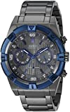 Guess Hombre u0377g5gris cronógrafo reloj con Iconic azul superior