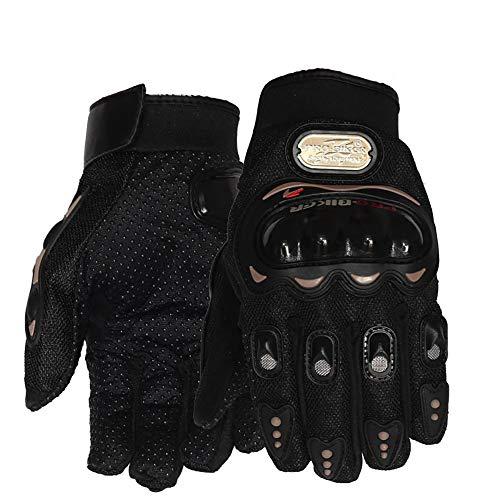 Mmsww equitazione guanti touch screen racing offroad attrezzature outdoor knight all-finger moto guanti anti-creme solari antivento,d,xxl