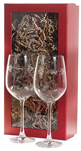 Feiner-Tropfen 2 Besondere Weingläser mit Gravur Name Personalisiert Typ1