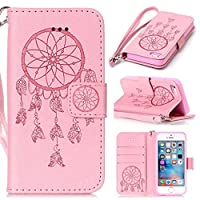 iPhone SE / iPhone 5 / 5s Case, KKEIKOŽ iPhone SE / iPhone 5 / 5s Wallet Case [with Free Tempered Glass Screen Protector], Premium PU Leather Flip Cover with Card Slots, Hand Strap and Kickstand, Wallet Book Style Holster Case for Apple iPhone SE / iPhon