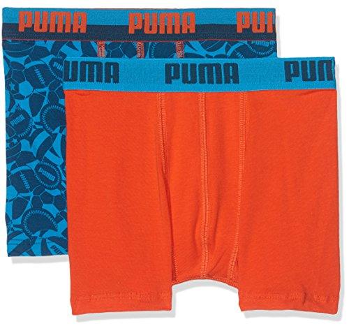 Puma Jungen Basic Sport Boxer 2p Unterhose Dark Blue/Hawaii Blue