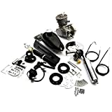 80cc 2 Stroke Pedal Cycle Motorised Gas Petrol Engine Electric Bicycle Black Conversion
