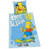 Herding 440825050 Bettwäsche Simpsons , Kopfkissenbezug 80 x 80 cm und Bettbezug 135 x 200 cm, 100 % Baumwolle, Renforce