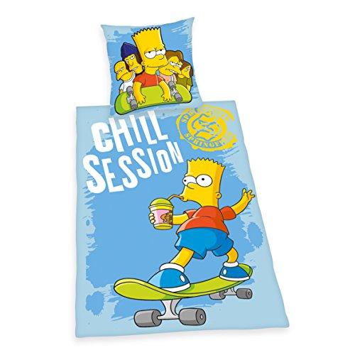 Herding Simpsons 440825050 Copripiumino 135 x 200 cm e federa 80 x 80 cm, 100% cotone rinforzato