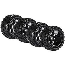 Homyl 4 pcs Ruedas Neumáticos 8477 para HSP HPI E-MAXX Savage Flux LRP 1/8 RC Coche