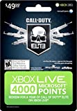 Carte Xbox Live 4000 points Call of Duty Elite