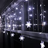 XGUO 3.5M 96 LED Luci Natalizie Catene Luminose led Spina di EU luci decorative per Festa, Giardino, Natale, Matrimonio - Bianco