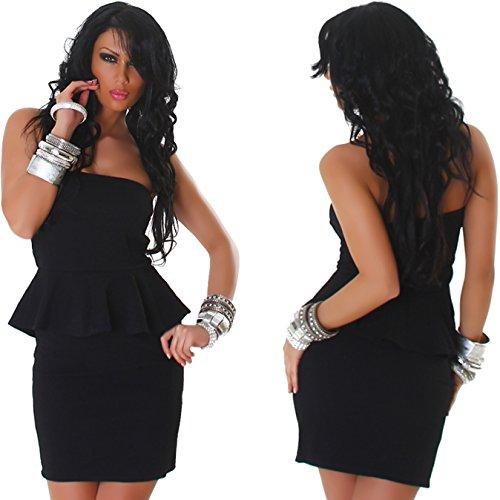 Jela London -  Vestito  - Maniche lunghe - Basic - Senza maniche  - Donna Nero