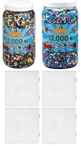 FäHig Hama Bügelperlen Midi Basteln & Kreativität Creativsets Transparent Neon Mix 3000 Perlen