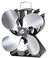 4-Blade Heat Powered Stove Fan for Wood / Log Burner/Fireplace increases 80% more warm air than 2 blade fan- Eco Friendly
