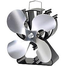 4-Blade Ventilador para estufa quemador de madera/registro/chimenea aumenta 80% más de aire caliente de 2hoja Fan- respetuoso con el medio ambiente