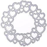 Rrimin 1pc Love Heart Circular DIY Cutting Dies Stencils Scrapbooking Album Paper Card (No.16)