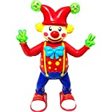 Attractive 3D Light & Sound Dancing Roly Poly Clown Joker Toy For Kids (Multicolor)