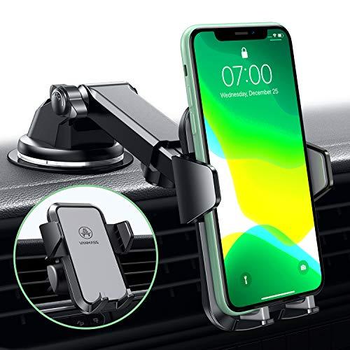 VANMASS Handyhalterung Auto Handyhalter fürs Auto Lüftung & Saugnapf Halterung 3 in 1 Smartphone Halterung KFZ 100{dbd9391580fadc5ab98d4e76ea317f99a674c88288b5ed815e4489bc54334dc4} Silikon Schützt Universal für alle 4-7 Zoll Handys wie iPhone Samsung Huawei LG