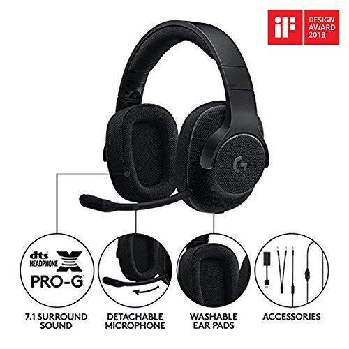 Logitech G433 Kabelgebundene Gaming Kopfhörer (7.1 Surround Sound, für PC, Xbox One, PS4, Switch, Mobiltelefon) schwarz - 2