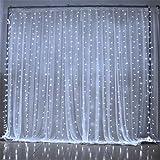 Die besten Homes Vorhänge - SOLMORE LED Lichterkette Vorhang Weiß 3m x 3m Bewertungen