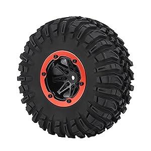 Dilwe RC Auto Reifen, RC Off-Road Reifen Autorad & Blue Hubs für 1/10 RC Crawler Truck