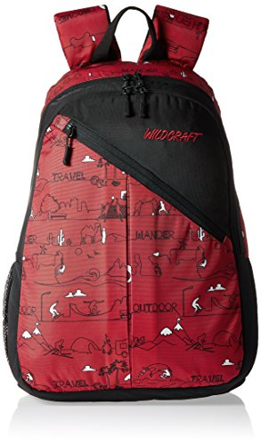 Wildcraft Sport LD Polyester Red Casual Backpack(8903338018360)  available at amazon for Rs.986