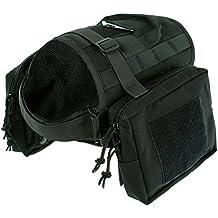Yisibo addestramento per cani con Molle Tactical-Gilet in Nylon, cinghie Kit-Giubbotto per cani e animali (Tasche Collare)