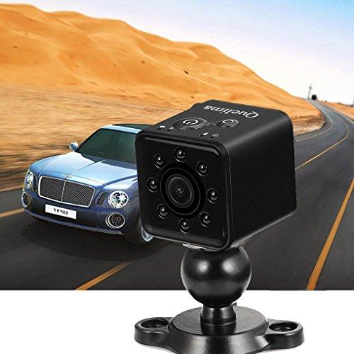Wokee Dashcam Auto, Quelima SQ13 Mini Full HD 1080P DV Sport Action Kamera DVR Recorder Kamera Dashboard Kamera Recorder mit CMOS,155 Grad Super TF 32G-Display G-Sensor, Loop-Aufnahme