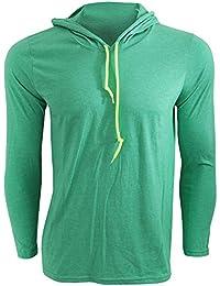 Anvil Herren Fashion Longsleeve / T-Shirt mit Kapuze, Langarm