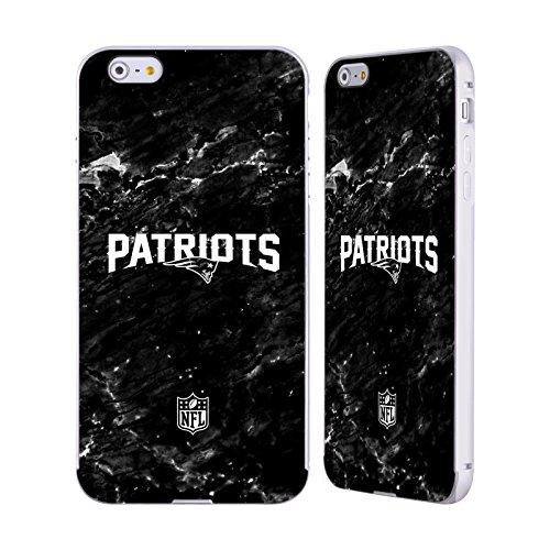Ufficiale NFL Righe 2017/18 New England Patriots Argento Cover Contorno con Bumper in Alluminio per Apple iPhone 5 / 5s / SE Marmo