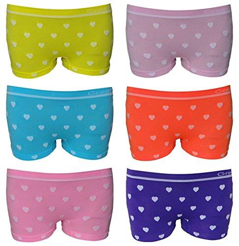 6er Pack sportliche Mädchen Pantys Hipster Shorts Greenice Gr. 98 - 164 (98 - 104)