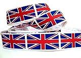 """1m Inglaterra Reino Unido Bandera de Reino Unido cinta 1""""25mm"""