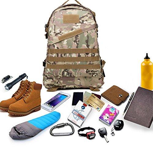 40l molle 3D zaini campeggio borsa di assalto tattici all' aperto militare di zaino per portatile da 10a 39,6cm, Black CP Camouflage