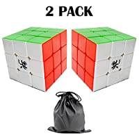 Senhai Dayan GuHong 3x3 Speed Cube 6-Color Stickerless V1 (2 pack) With One Free Cube Bag