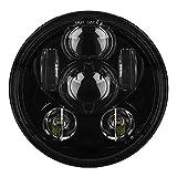 #6: Genxtra® 6 LED 5.75 Inch Headlight / DayMaker for Bajaj Avenger and Harley Davidson (Black)