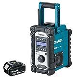 Makita DMR109 DAB 10.8v-18v LXT/CXT LI-ion Job Site Radio With 1 x 4.0Ah BL1840 Battery