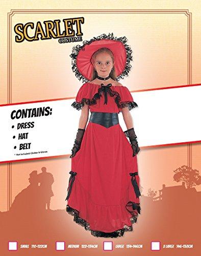 Imagen de scarlet  disfraz de época para niña, talla 7  9 años cc406 kit 1  alternativa
