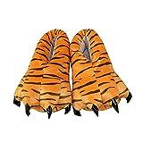 Casa Invierno Zapatos de Garra , Zapatillas de estar por casa Zapatos peluche de felpa Unicornio para adulto Talla 35-40 Tigre