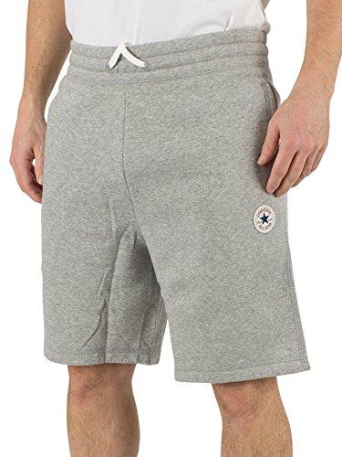 Converse Uomo Logo fasciate Pantaloncini felpati core, Grigio, Medium