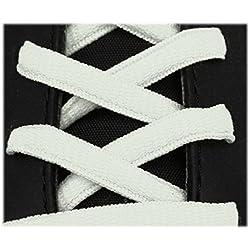 Cordones deportivos ovalados de alta calidad 125 cm blanco