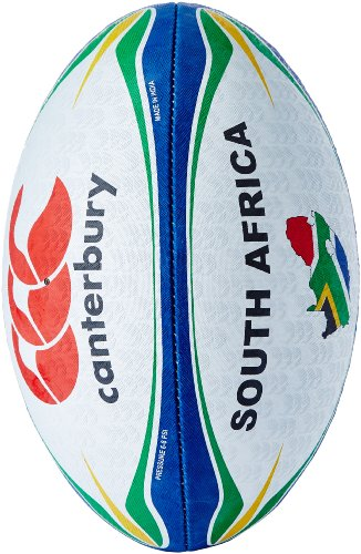 Canterbury Supporters Rugbyball South Africa Ballon de Blanc/Bleu-Vert/Rouge, 5