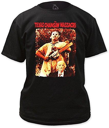 Texas Chainsaw Massacre - Leatherface & Grandpa T-Shirt L - Schwarz