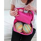 Vmore Travel Organizer Bra Underwear Lingerie Pouch Makeup Bag Luggage Storage Case -PINK