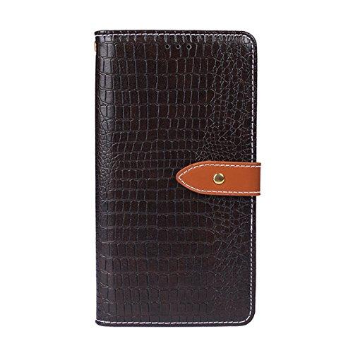 Xiaomi Redmi 6A Case,Xiaomi Redmi 6A Case,PU Leather Premium PU Leather Wallet Snap Case PU Leather PU Leather Flip Cover for Xiaomi Redmi 6A Dark Brown -