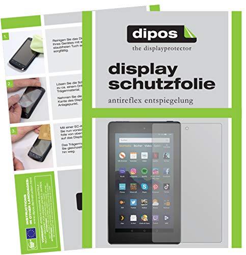 dipos I 2X Schutzfolie matt passend für Amazon Fire 7 Tablet Kids Edition (2019) Folie Bildschirmschutzfolie