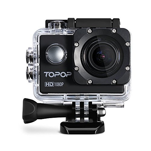 Videocamera,Action Camera Sport, Macchina Fotografica d'azione da 12MP, Video Full HD a 1080p e 30 fps, Impermeabile sino a 30m di Profondità, Display da 2 Pollici , accessori Multipli per Sport Esterni