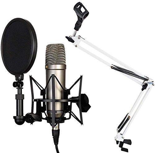 Rode NT1-A Juego condensador Micrófono Keepdrum nb35wh Blanco brazo articulado trípode