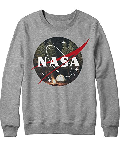 Sweatshirt NASA Logo WILD Camping K123450 Grau - Saturn V Kostüm