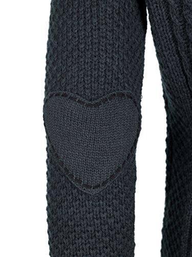 ALMBOCK Trachtenstrickjacke Damen |Trachtenweste Damen modern in anthrazit mit Reißverschluss | Trachten Jacke sportlich - Trachtenweste Gr. XXL - 4