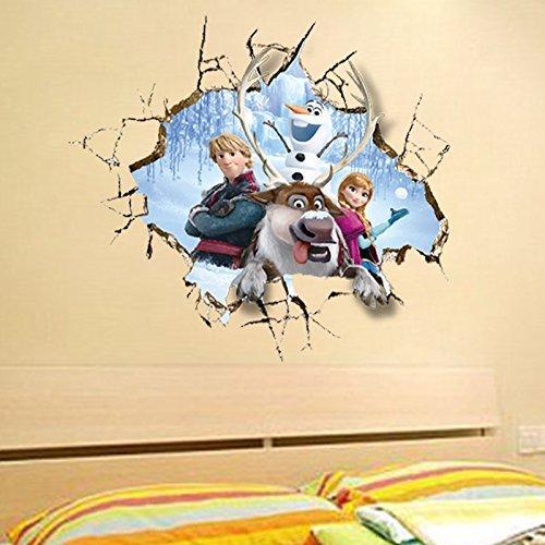 Clest F&H frozen elsa Pegatinas de Pared de la Pintura del Gigante 3D
