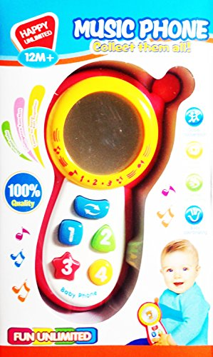 Toy Music Cellular Phones for Kids Cellphones 12M+ christmas gifts item
