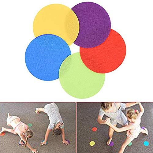 Yimosecoxiang 30 Stücke Bunte Klassenzimmer Teppich Marker Magic Tape Punkte für Vorschulkinder Gaming Früherziehung Schule Creation Puzzle Teppich Marker