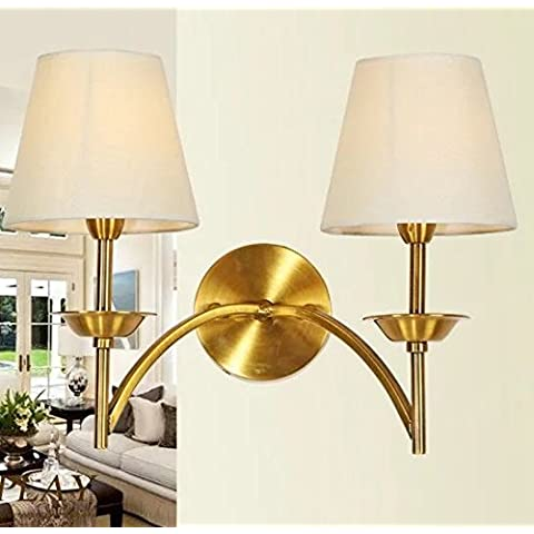 FANDBO Americano lampada neoclassico post-moderna camera da letto Lampada da